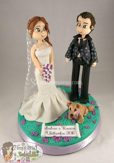 Topper sposi con cane