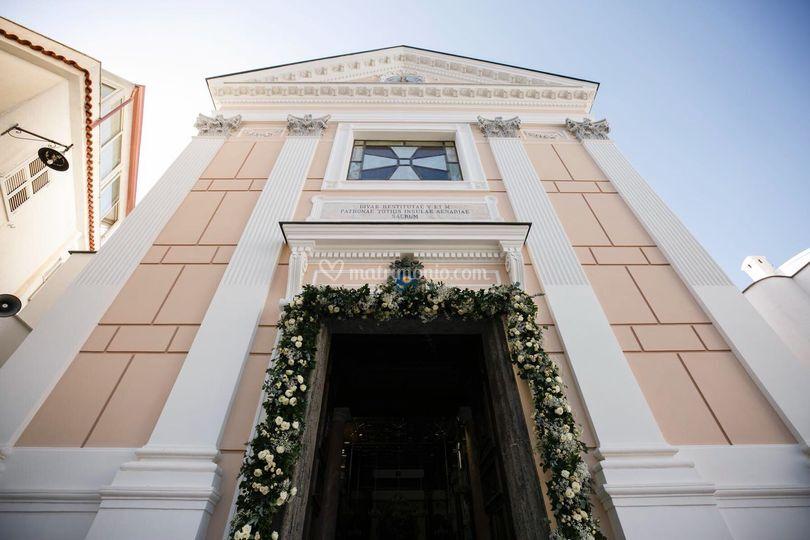 Flowered church portal