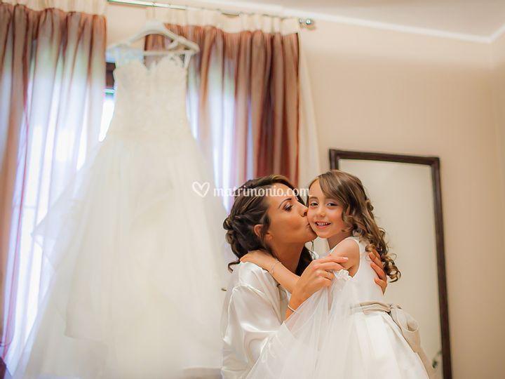 Sposa e la sua bimba