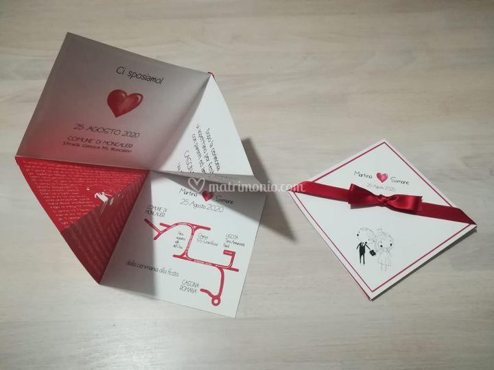 Invito origami indovino