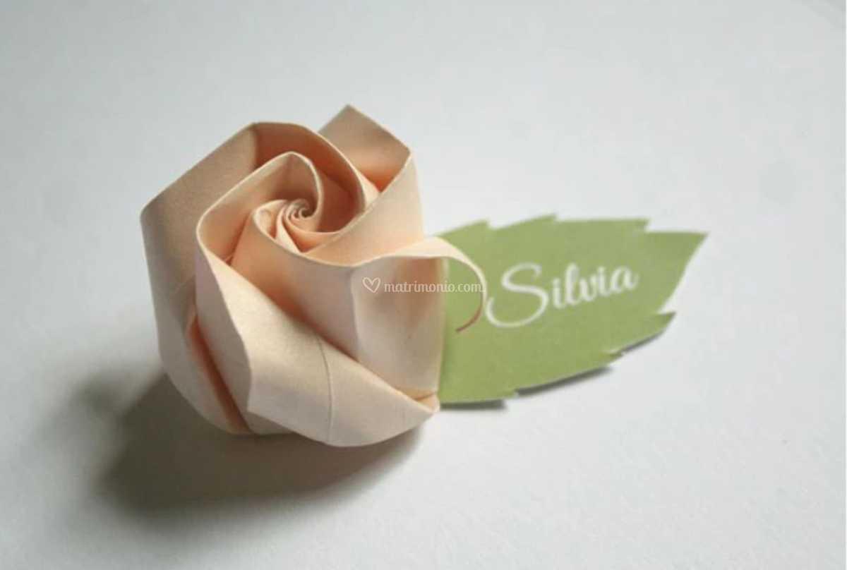 Origami Segnaposto Matrimonio.Segnaposto Rosa Di Kartouche Foto 100