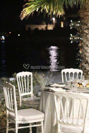 Matrimonio in spiaggia serale