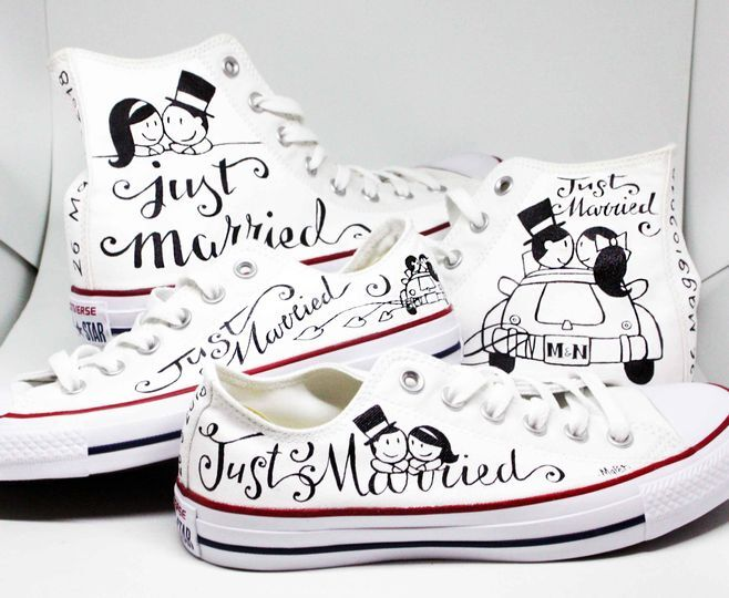 Coppia Converse Just Married