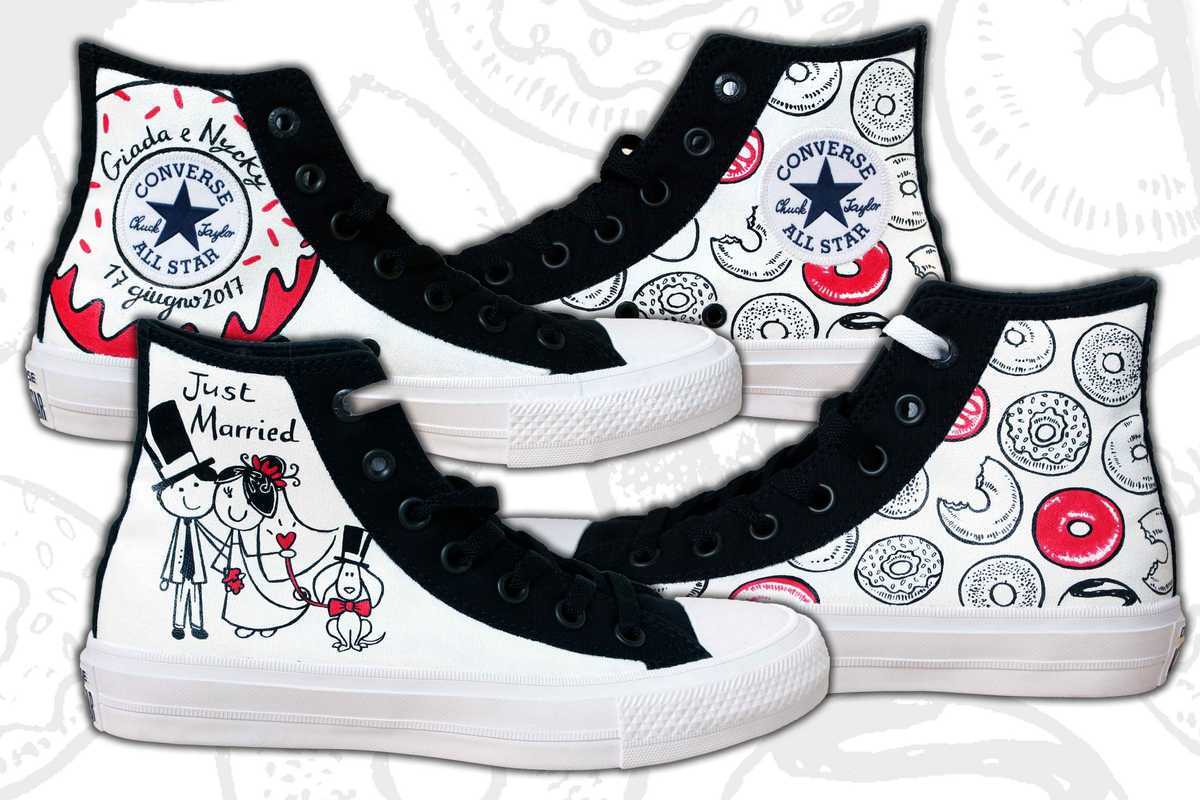 Converse sposa di Scarpe Personalizzate MaPet Shoe | Foto 17