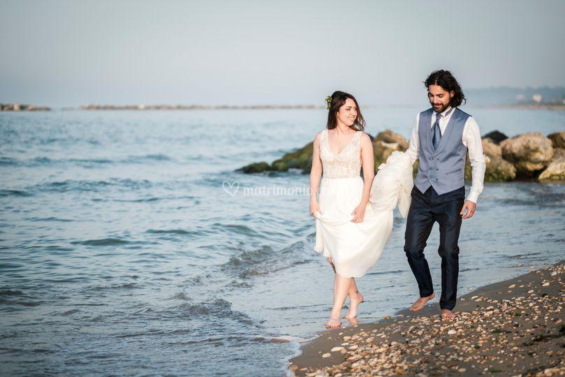 Camminata in riva