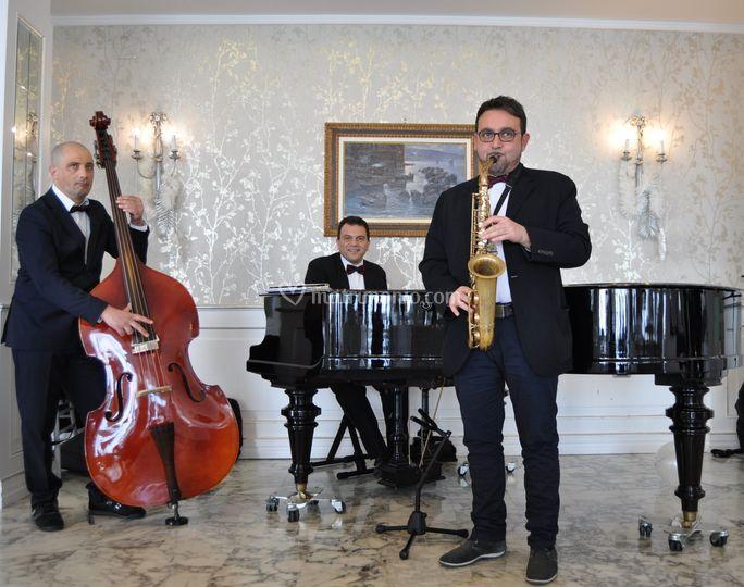 Trio jazz in Villa Lucrezio