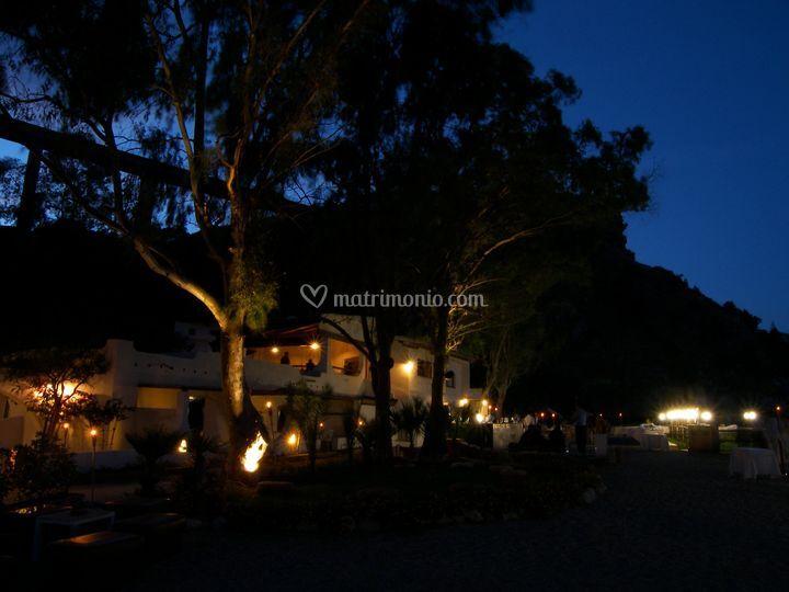 Il ristorante di sera