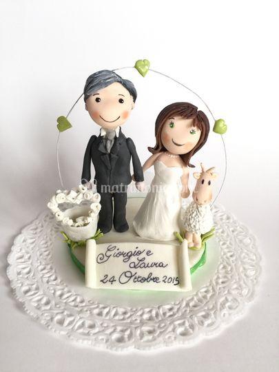 Cake topper Giorgio e Laura