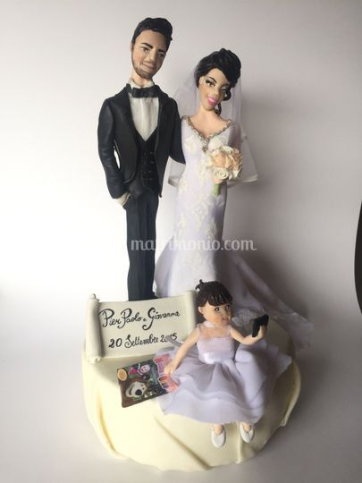 Cake topper con bimba