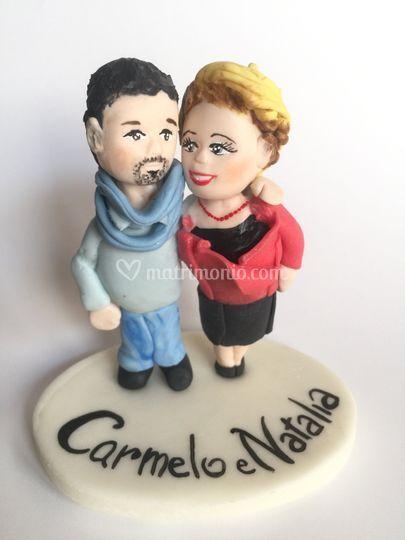 Cake topper Carmelo e Natalia