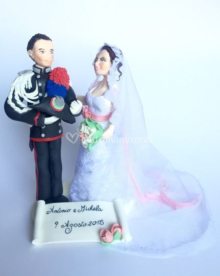 Cake topper Antonio e Michela