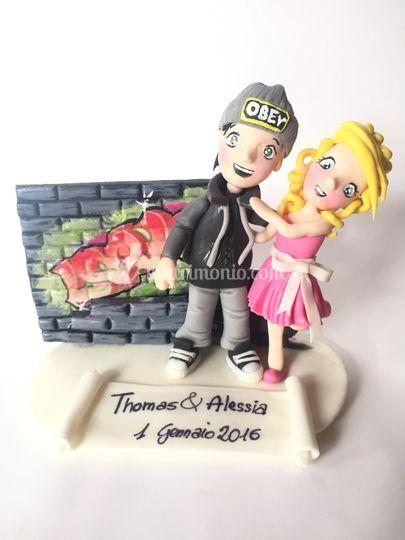 Cake topper Thomas e Alessia