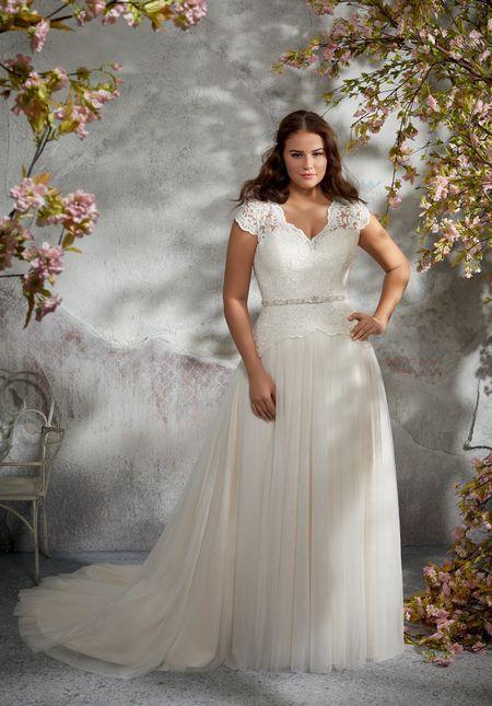 funzionario di vendita caldo colori delicati scelta migliore 30 abiti da sposa per taglie comode: lusso ed eleganza per ...