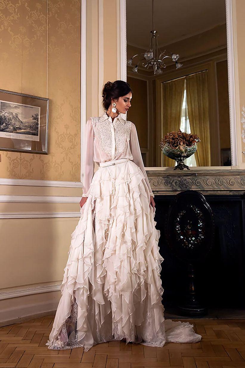 ca918ace163a 45 bellissimi abiti da sposa invernali  per risplendere nonostante ...