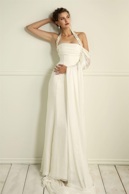 e94ec8bdfbec Abiti da sposa con scollatura all americana  i 30 modelli più belli!