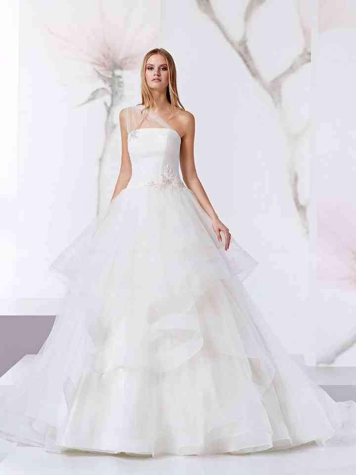 competitive price 0a34d 52e5a 30 abiti da sposa monospalla: giochi di simmetrie che vi ...