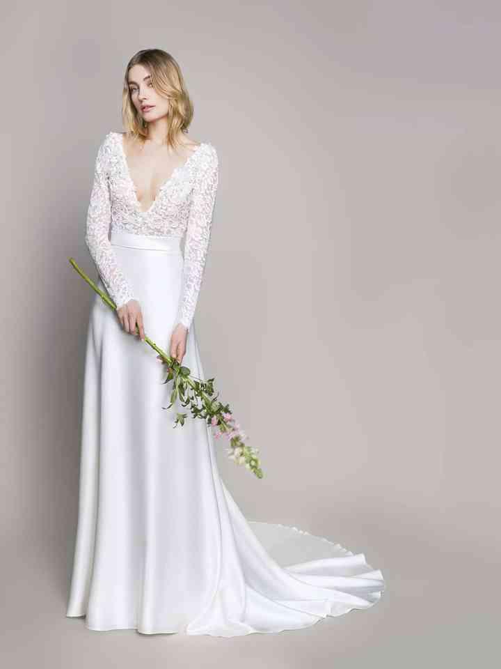 Vestiti Da Sposa Blumarine.Abiti Da Sposa Blumarine 2018 Romantica Audacia Floreale