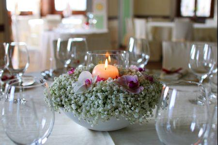 Centrotavola per matrimonio con candele