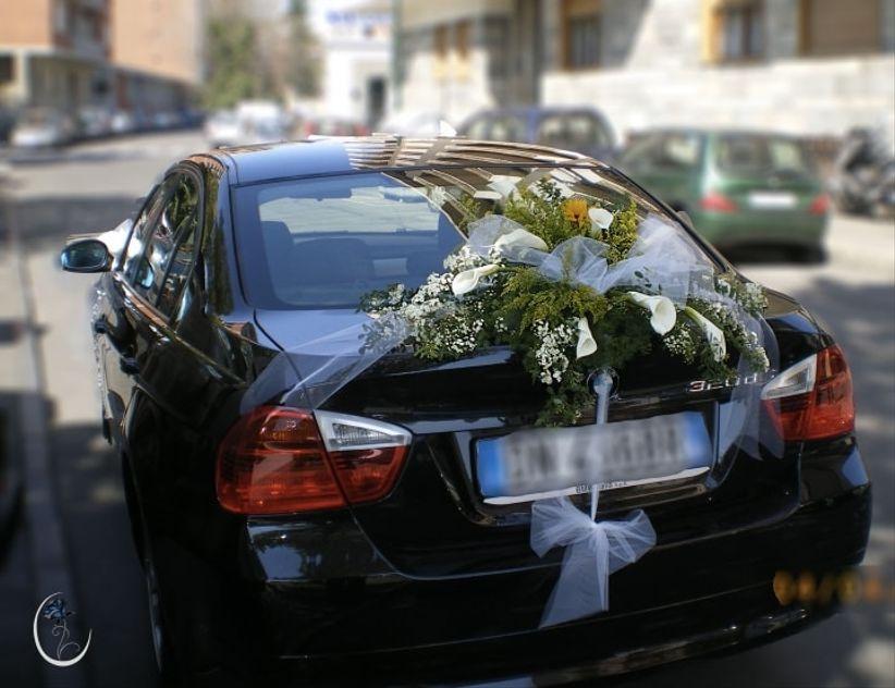 Préférence Decorazioni floreali per l'auto degli sposi SJ74
