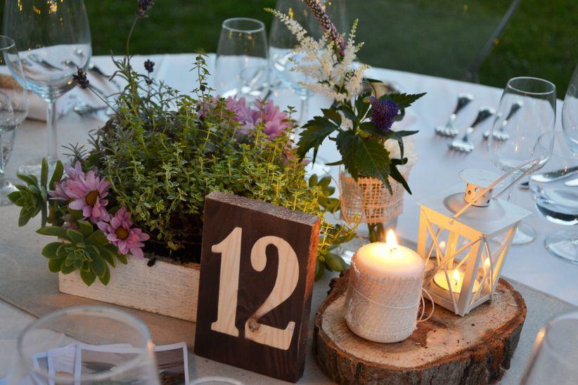 Decorazione Matrimonio Rustico : Consigli per decorare tavoli di nozze rotondi