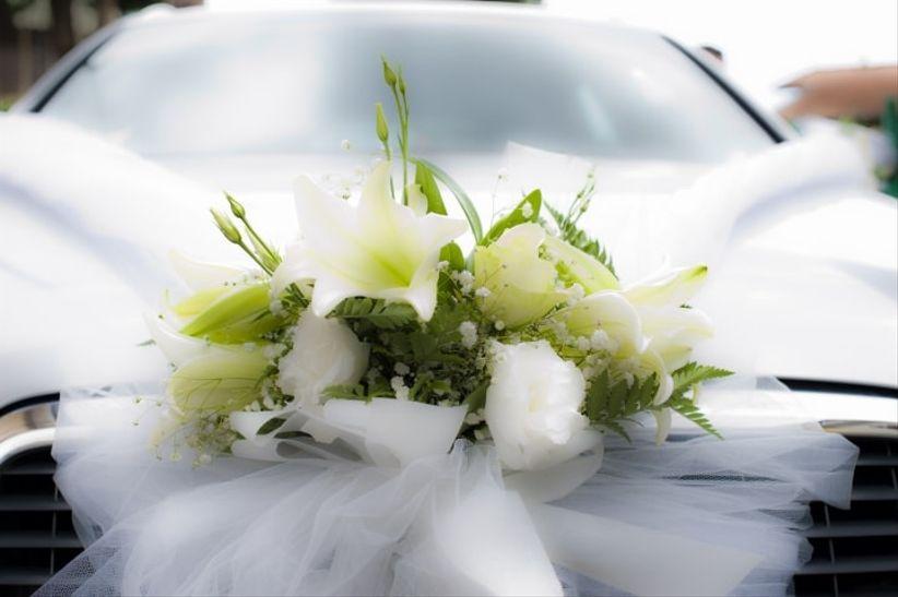 Préférence Decorazioni floreali per l'auto degli sposi WK74