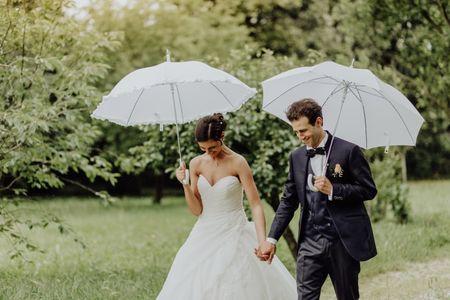 Tutta la bellezza di un matrimonio sotto la pioggia!