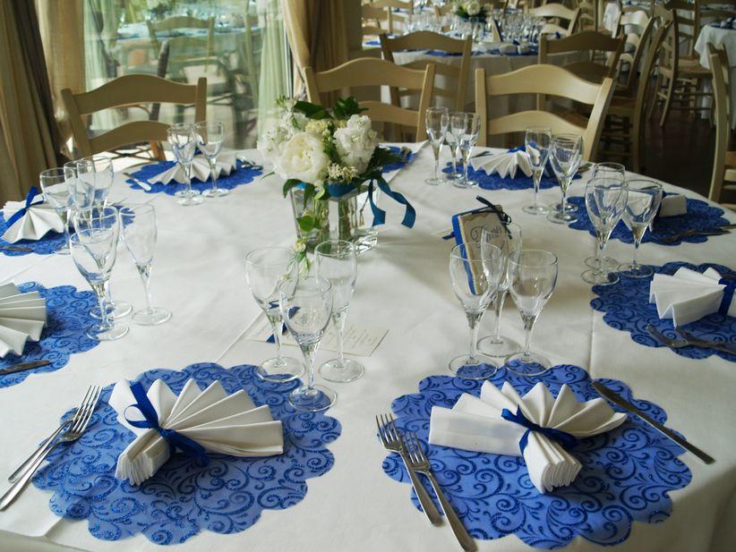 Allestimenti di matrimonio blu for Addobbi 25 anni di matrimonio