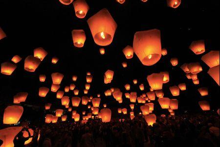 Decorazioni di nozze con le lanterne cinesi