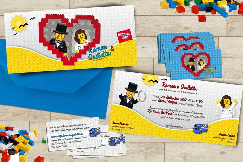 Matrimonio Tema Lego : Partecipazioni di nozze i design più belli e