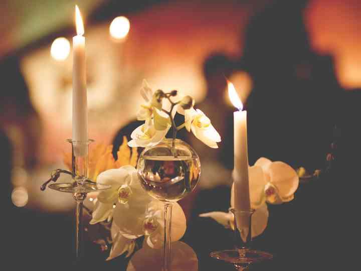 Risultati immagini per centrotavola matrimonio candele