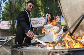 Organizzare un barbecue di nozze per un matrimonio all'aperto