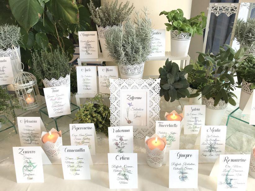 Tableau Matrimonio Tema Erbe Aromatiche : Decorazioni con erbe aromatiche: una scelta green che profuma di