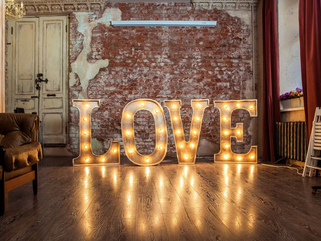 Iniziali XXL fai da te per decorare le tue nozze