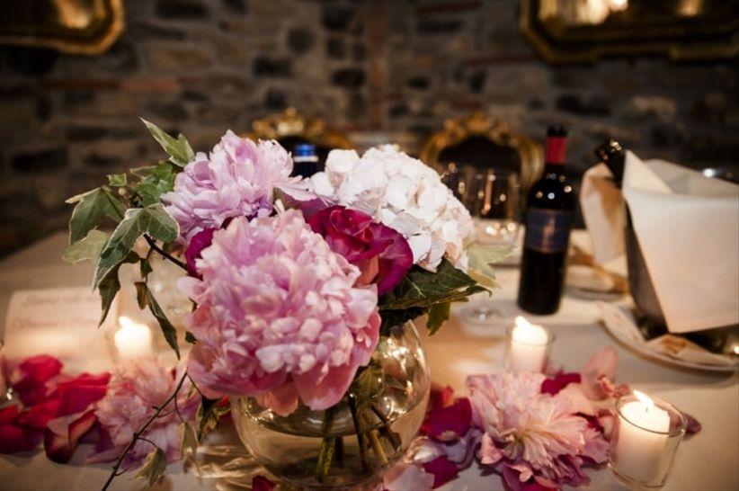 Matrimonio Tema Ortensie : Centrotavola per nozze d autunno