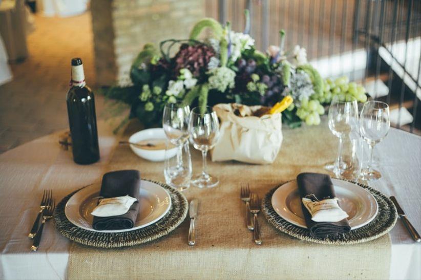 Idee per la decorazione del tavolo degli sposi