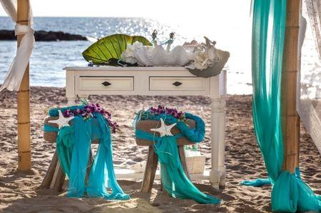Decorazioni per matrimoni in spiaggia