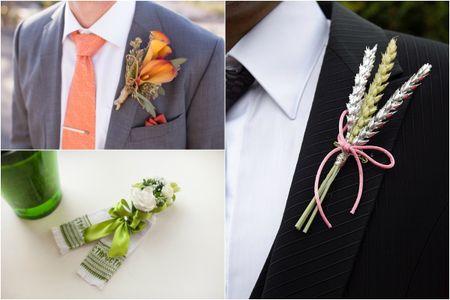 Tanti tipi di fiore all'occhiello per lo sposo