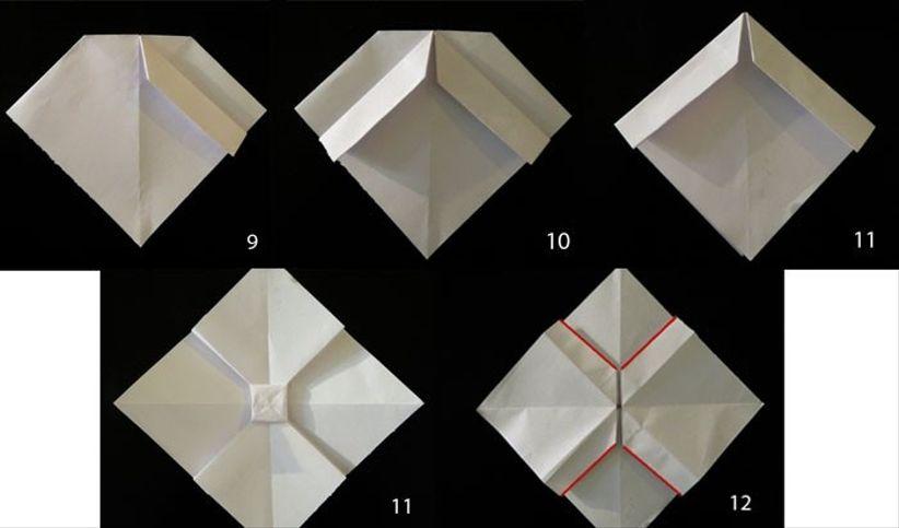 fiocchi fai da te con origami il tutorial. Black Bedroom Furniture Sets. Home Design Ideas