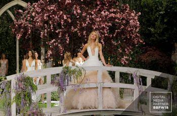 La sfilata di abiti da sposa Pronovias 2019 inaugura la Barcelona Bridal Fashion Week