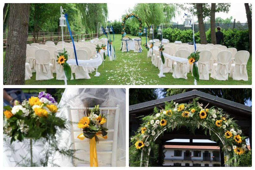 Girasoli Chiesa Per Matrimonio : Come decorare le tue nozze con i girasoli