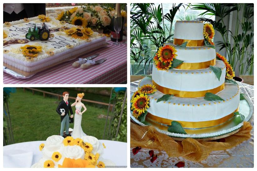 Torta Matrimonio Girasoli : Come decorare le tue nozze con i girasoli
