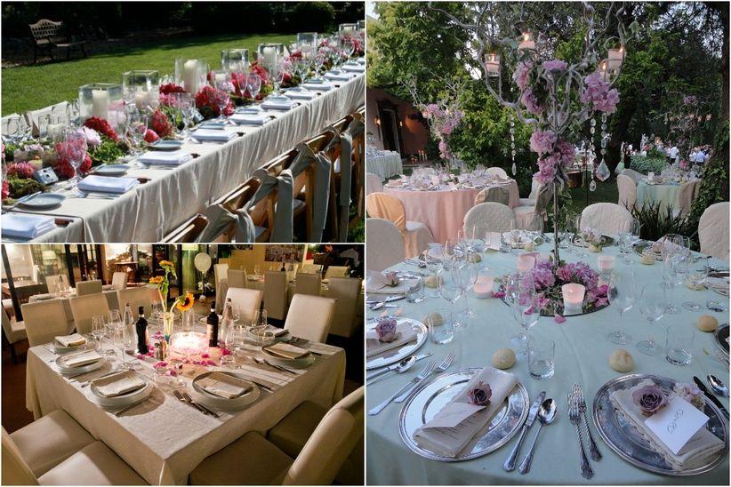 10 idee originali per decorare i tavoli for Decorazioni tavoli matrimonio
