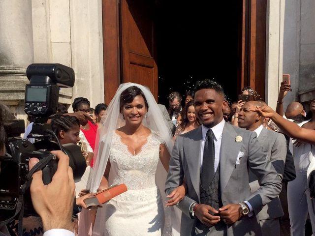 Fiori d'arancio per Samuel Eto'o e Georgette Tra Luo! Alessandra Rinaudo firma l'abito della sposa