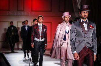 Abiti da sposo Petrelli Uomo 2018: stravaganza ed eccentricità dell'haute couture Made in Italy