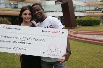 Giulia e Petam sono i vincitori della 67ª edizione del concorso di Matrimonio.com