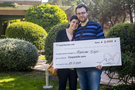 Massimo e Serena sono i vincitori della 72ª edizione del concorso di Matrimonio.com!