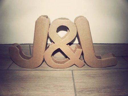 Iniziali XXL per decorare le tue nozze