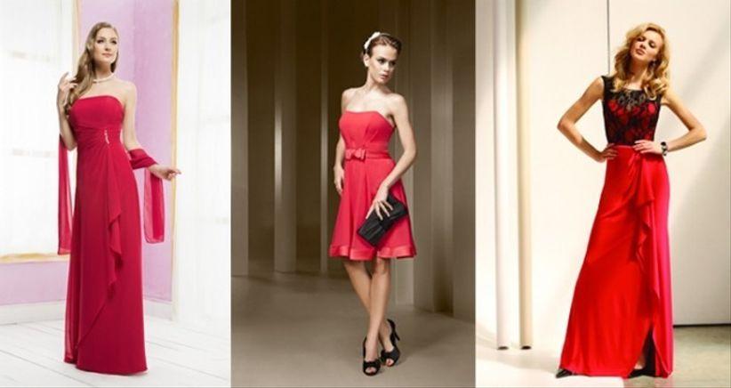 10 abiti rossi per invitata di nozze. Black Bedroom Furniture Sets. Home Design Ideas