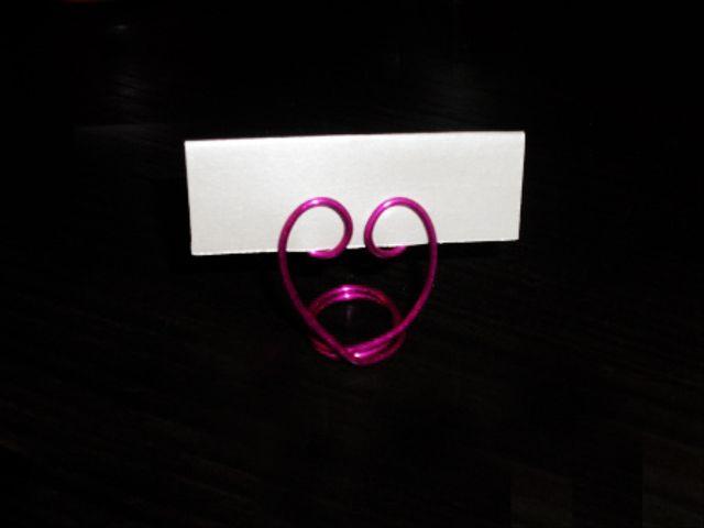 Tutorial segnaposti nozze in fil di ferro a forma di cuore