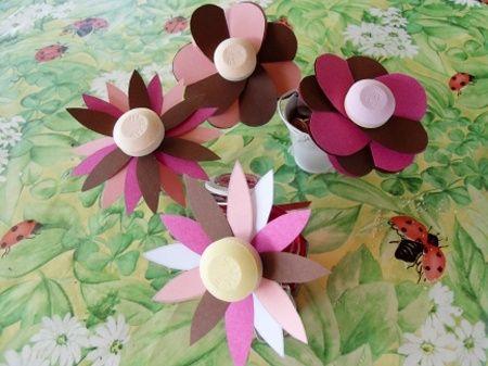 Lecca-lecca a forma di fiore per bimbi invitati di nozze